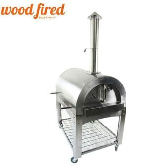 roma wood fired pizza oven stainless steel extra large with stand