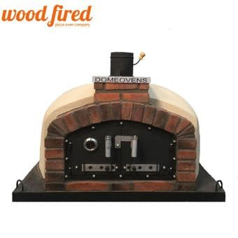 SAND FRANCO WOOD FIRED PIZZA OVEN DOUBLE INSULATION 160CM, CAST IRON DOOR