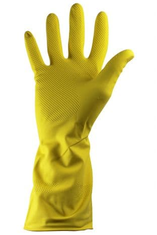 GR03/Y - Standard Household Rubber Glove - Yellow