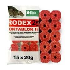 Rodex Mouse Poison Bait Blocks 15 x 20g