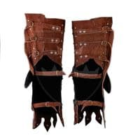 14th Century Reinforced Brown Suede Cuisses