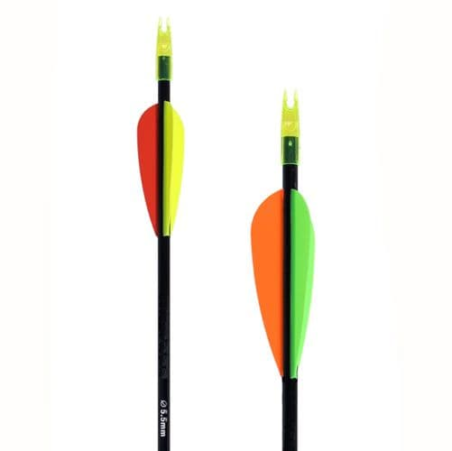 """Arrow For Beginners 30"""".5.5mm Carbon Shaft,  Red/ Yellow/ Yellow"""