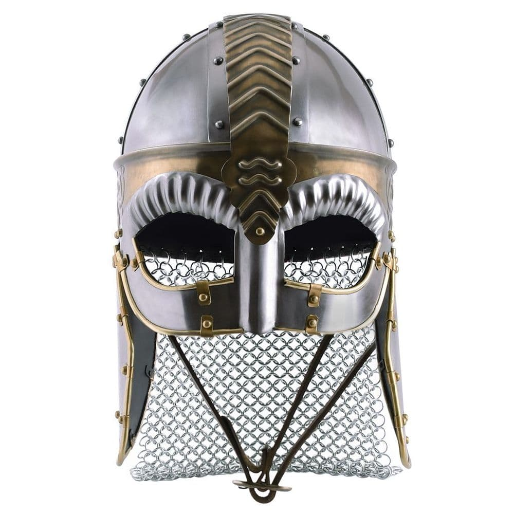 Beowulf Spectacle Helmet with Cheek Guards and Aventail