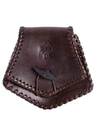 Celtic Leather Medieval Pouch with Pictish Motif