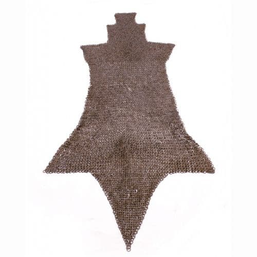 Chain Mail Leg Chausses, Flat Ring Round Rivet Heads Mixed (FRM)