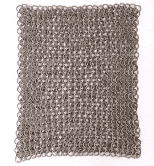 Chainmail Square Piece, 20 X 20cm, Flat Ring Wedge Riveted/Solid, 8mm