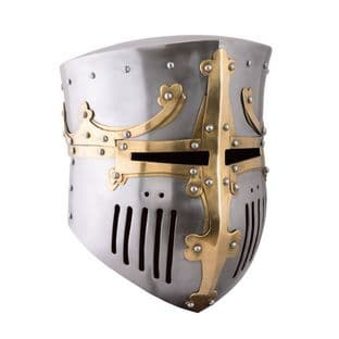 Crusader Pot Helm, 13th C  from  1.6mm Steel