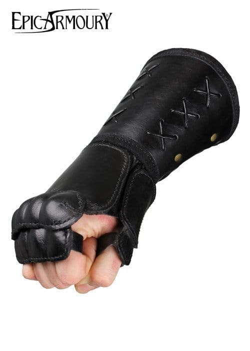Epic Armoury Larp Leather Gauntlet Right Hand