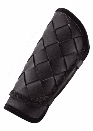 Epic Armoury RFB Viking Greaves Black Leather