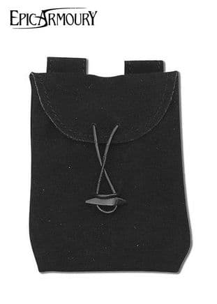 Epic Armoury Suede Square Leather Bag Small, Size 16 X 0.5 X 12cm