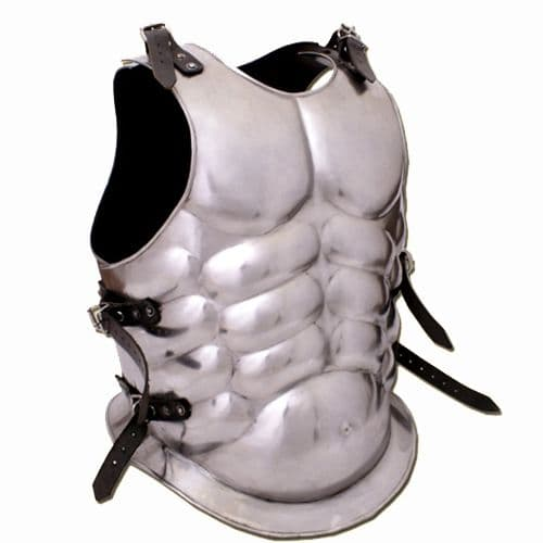 Greek Muscle Breast and Back Plate, 1.2mm Steel, Polished