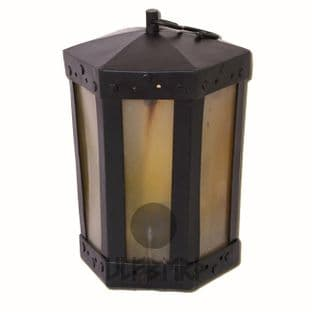 Hexagonal Lantern With Horn Windows Height 20cm, Diameter 12cm, Weight 800g