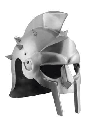 LARP Gladiator Helmet Maximus with Leather Lining 1.6mm Steel