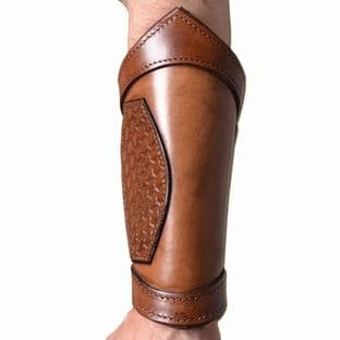 Leather Bracers (Arm Guards) Celtic, Pair