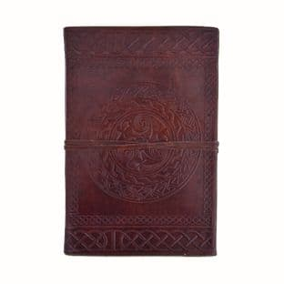 Leather Diary with Celtic Symbol, Brown 21 X 14cm
