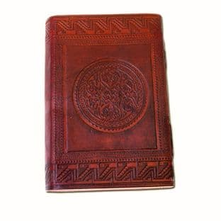Leather Diary with Medieval Design 14 X 21cm