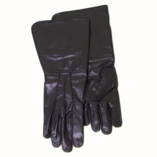 Leather Gauntlets Black Leather