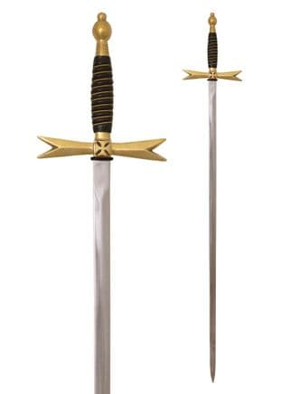 Masonic Sword with Horn Grip and Scabbard