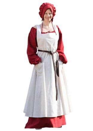 Medieval Apron, Ruth, Natural Coloured- One Size
