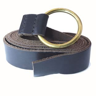 Medieval Belt With Brass Ring Brown 160cm