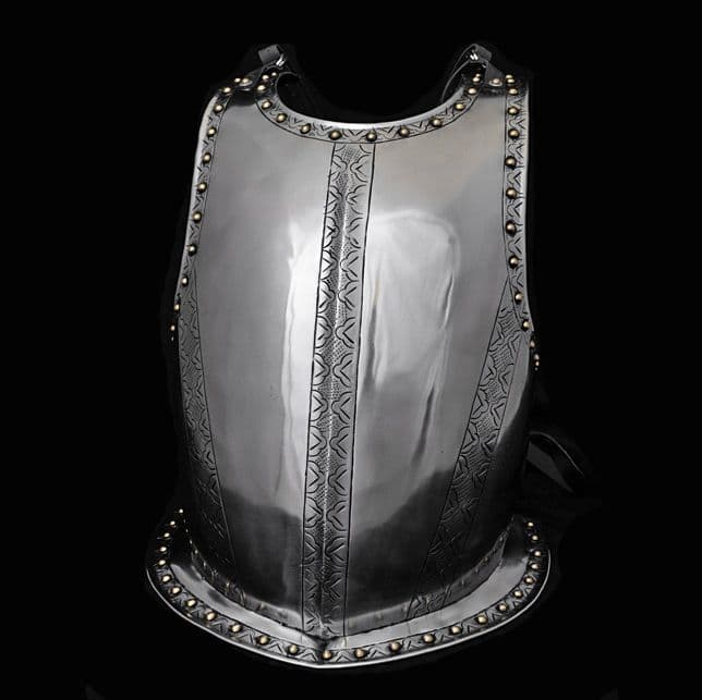 Medieval Breastplate, Steel Harness with Engraving
