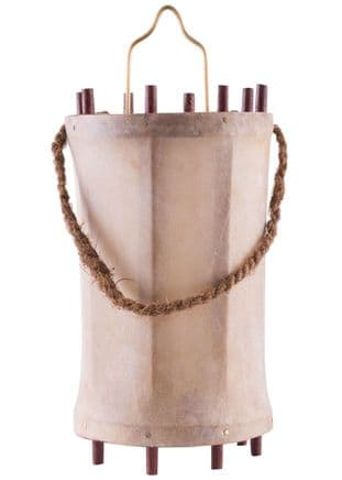 Medieval Lantern, Wood with Rawhide Parchment