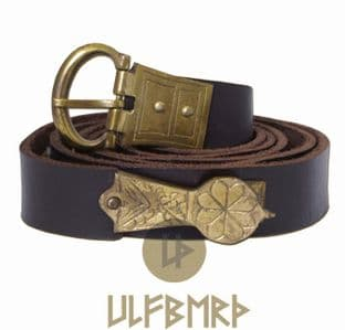 Medieval Leather Belt With Decorative Rivets 160cm