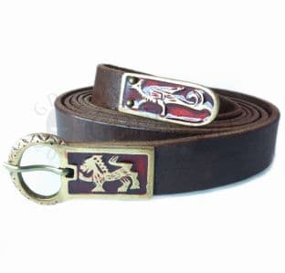 Medieval Long Belt With Griffon and Lion Motif,145cm