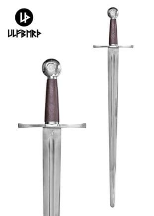 Medieval One Handed Sword With Scabbard SK-B, Practical Blunt, Battle Re-enactment