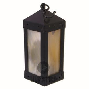 Medieval Square Lantern With Horn Windows, Height 22cm, Diameter 10-11cm, Weight 700g