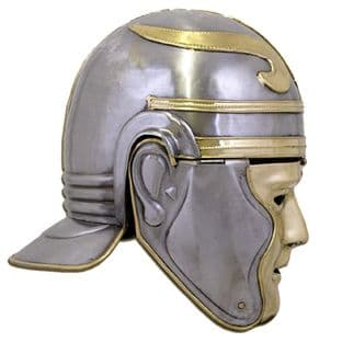 Roman Imperial Gallic 'Face' Helmet, Iron, Head Size up to 62cm, Weight 1.8kg