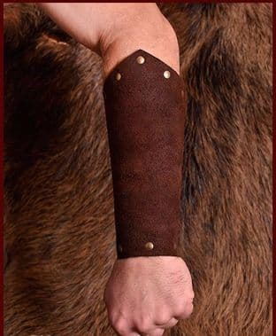 Vambraces (Arm Guard) Suede Leather Brown