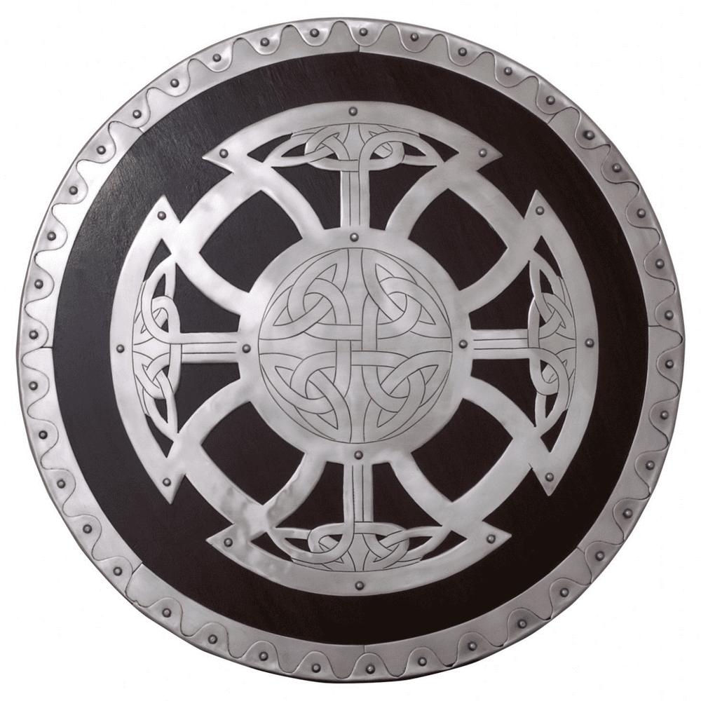 Viking Round Wood Shield with Steel Fittings