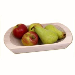 Wooden Dish made from Unvarnished Poplar Wood, Available in 3 Sizes