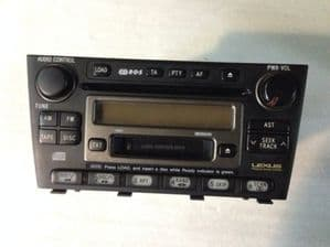 2001 LEXUS IS200 RADIO CD CASSET HEAD UNIT 13903 CD 6 DISC CHANGER FULLY WORKING
