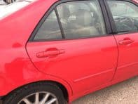 99-05 LEXUS IS200 IS300 COMPLETE REAR RIGHT SIDE O/S/R DOOR RED COLOR 3P0 VGC