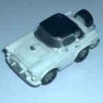 1980's Micro Machines  56' Ford Thunderbird white black roof@sold@