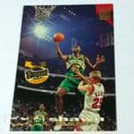 1993 Topps Stadium Club #355 Frequent Flyers Shawn Kemp Seattle Supersonics Card @sold@
