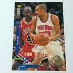 1995-96 Upper Deck Collector's Choice #173 Grant Hill w/ Michael Jordan Card @sold@