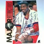 1995-96 Upper Deck Houston Rockets Basketball Card #343 Hakeem Olajuwon/Bernsen @sold@