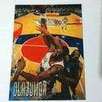 1996-97 Fleer Houston Rockets Basketball Card #42 Hakeem Olajuwon @sold@