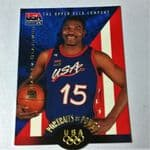 1996 Upper Deck USA Houston Rockets Basketball Card #54 Hakeem Olajuwon @sold@