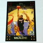 2007-08 Topps Miami Heat Basketball Card #3 Dwyane Wade @sold@