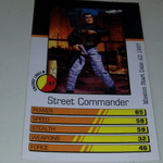 Action Man Power Cards 1996 Street Commander Trading card @sold@