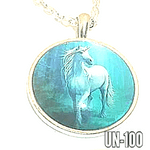 Blue sky Unicorn  pendant