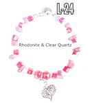 childrens crystal heart charm bracelet