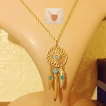 Dream Catcher & Feather necklace  (LN-21 )
