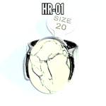 Howlite Gemstone Ring size (S)