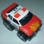 Kid Galaxy Squeezable pull back racers FIRE CHIEF CAR