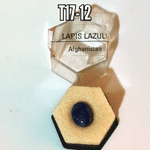 Lapis Lazuli mineral/gemstone specimen in display box (cut)